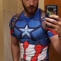 Capitán America 3D Gym Shirt