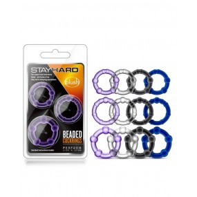 Stay Hard Beaded Cockrings (blue) - Blush