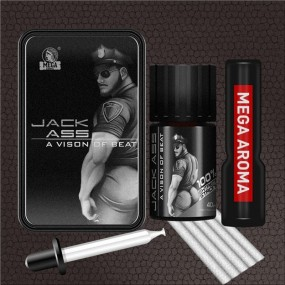 Pack Poppers Jack ass + Aceite Masaje Chocolate