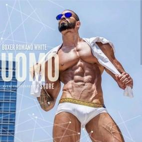 Boxer Romano White
