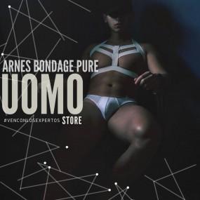 Arnes Bondage Elastico Blanco