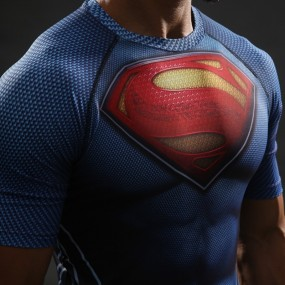Superman 3D Gym Shirt
